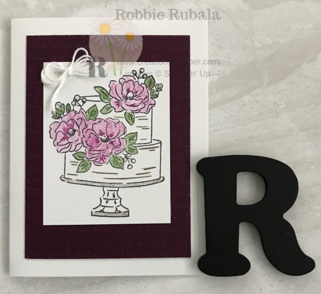 A simple card that has some coloring. A great Clean and Simple Feminine Card that is great for All Occasions.