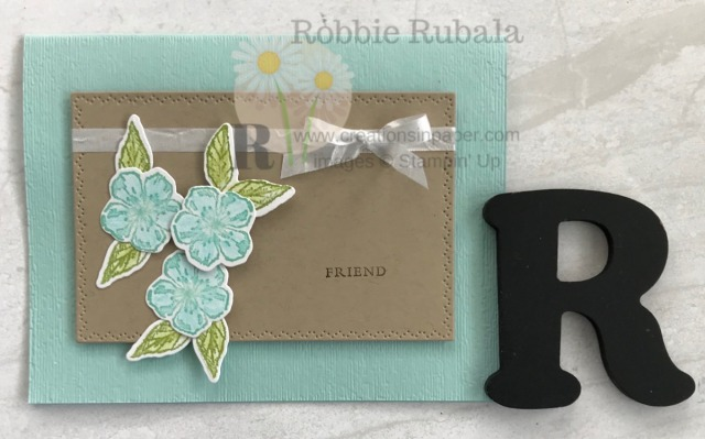This is a pretty card and perfect to send to that special friend. Get the details for the Forever Blossoms Friend creation so you can make your version!