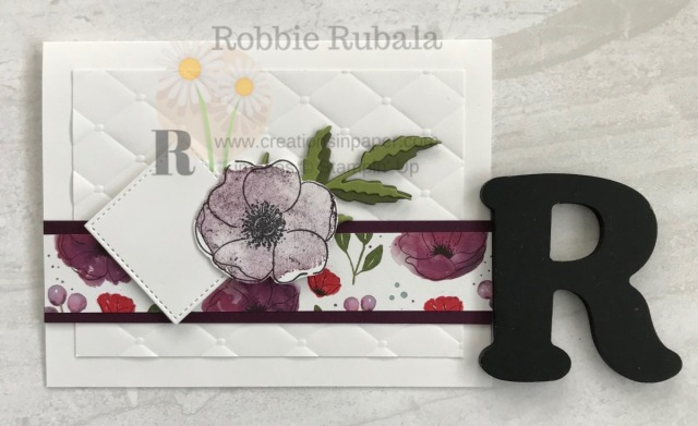 This is such a pretty card. Isn't all the texture perfect together? Get the details for the 10 Minute Poppy card.