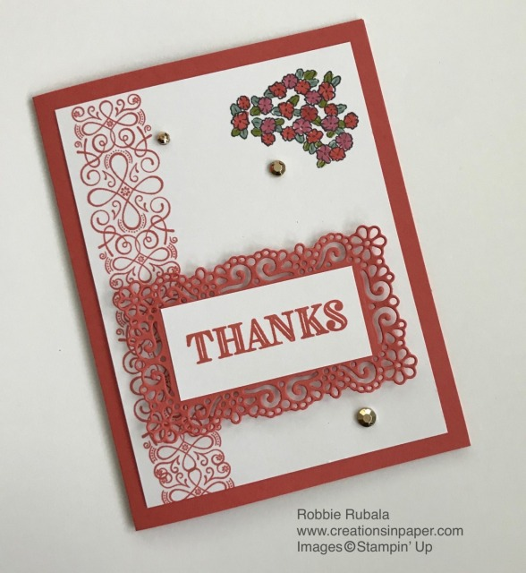 Looking for a quick thank you card? Check out the Terracotta Tile Thanks creation to see how to make it.