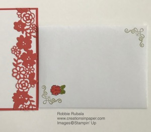 This die cut fits into the card front like a puzzle. See the photo of the card front for the Ornate Style Die Cut Edge creation.