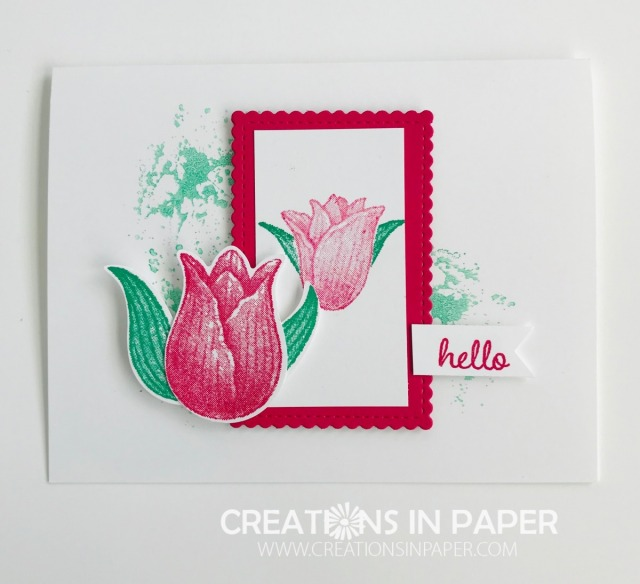 Tulips are so pretty in the Spring. This 10 Minute Timeless Tulips idea lets you have tulips all year long and in any color you want. Don't miss the details on how to make this card.