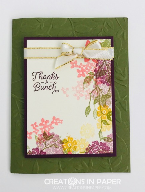 If you like to create a One Sheet Wonder, you will love the Twisted One Sheet Wonder Thanks. Get all the details to find out how to make this card.
