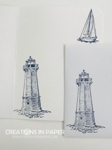 These nautical images make a perfect masculine card. See the video to find out how to make the C.A.S.E. the Catty ~ Masculine Idea.