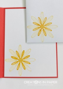 These 2 daisy images make the perfect layered daisy for the card front. Don't miss the #ShopYourCraftStash With a Twist to see this pretty card front.