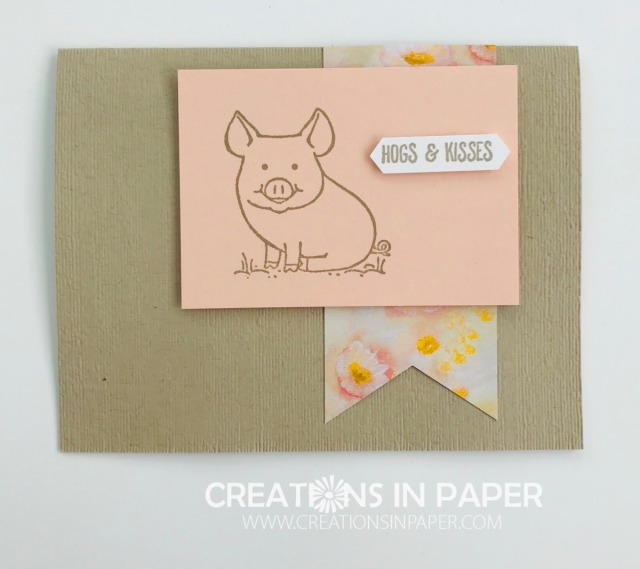 This kids card is so cute and the pun is very popular with kids. Get the details and see the video for the This Little Piggy Hogs and Kisses card.