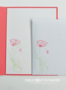 This poppy is easy to color with markers. See how I used it on the card front for my Flirty Flamingo Argyle creation.