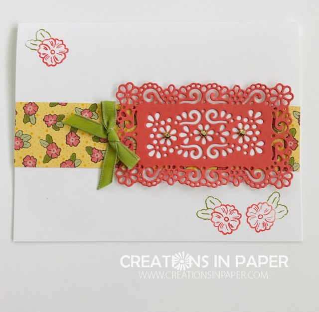 Do you have your Ornate Garden products yet? Check out this Fast and Fabulous Ornate Garden cute card made with the products in the suite ~ super easy and cute!