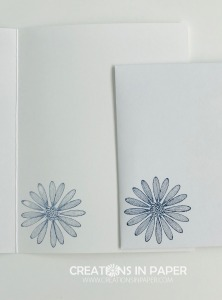 This daisy image is perfect for a card for a lady. Add some designer series paper and you have the perfect creation. Check out the Many Mates Feminine Happy Birthday card.