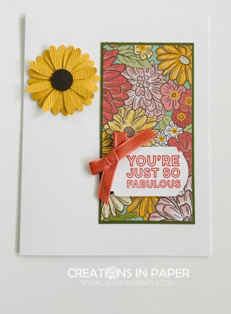 This is a great All Occasion card. Who would you send this Quick and Easy You're Fabulous card to?