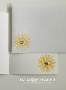 This cute daisy is a hint of one of the elements on the card front. Check out the Quick and Easy You're Fabulous card to see the element I used.