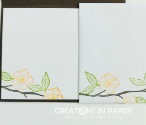 This branch is the perfect image for a clean and simple card. Check out the Scripty Forever Blossoms card for the perfect All Occasion card.