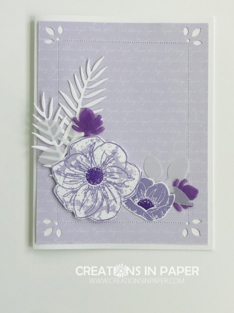 A pretty monochromatic purple card is perfect for any occasion. The Purple Posy Floral Essence card is a great card to send to someone who needs some cheering up..