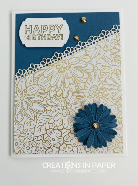 Are you looking for a feminine birthday card idea? Don't miss the details for this Many Mates Feminine Happy Birthday creation using new products.