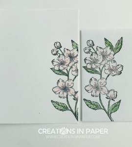 These pretty blossoms are fun to color and use on a card. Find out what the card front for Forever Blossoms in Pink looks like.