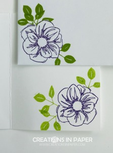 This flower is a great one to use to color on vellum. Check out my Floral Essence Little Hello to see a cute idea.
