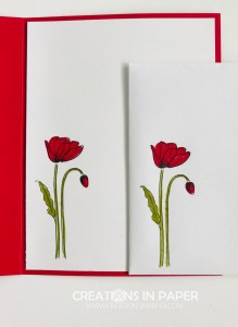 I love this cute poppy image. It is the perfect size for a panel on the front of the card. Check out the Wonderful Wednesday Poppy Flower creation to see how I used it with some masculine designer series paper.