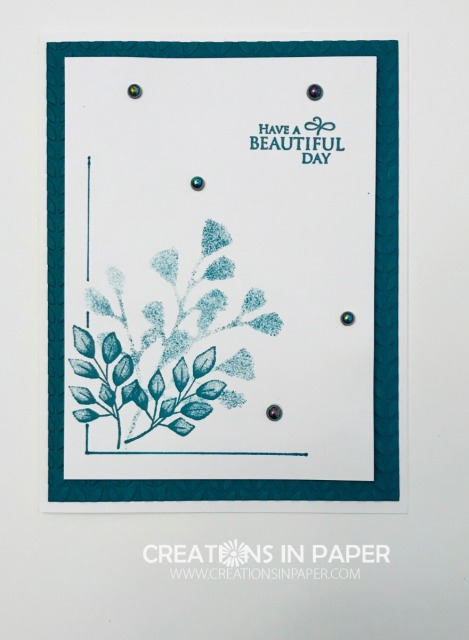 Have you ever used a die to make a stencil? Check out the video for the Pretty Peacock Beautiful Day card where I show you how to create your stencil using a die.