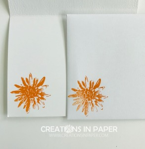 Isn't this a fun image? It makes the perfec Fall flower. See how I used it for my Cajun Craze Regals Patterned Paper Stack idea.