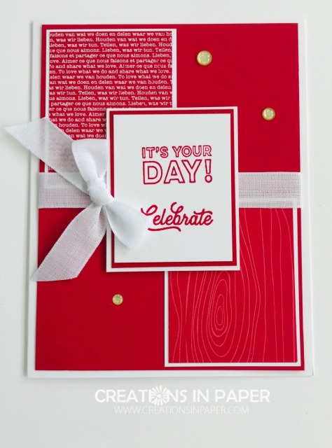 Need a birthday card? Check out this really cute and simple Regals Real Red Celebrate idea.
