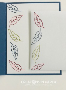 Don't miss seeing the beautiful card I created using these leaves. The Gorgeous Fall Leaves creation is the perfect Fall card and is easy to create.