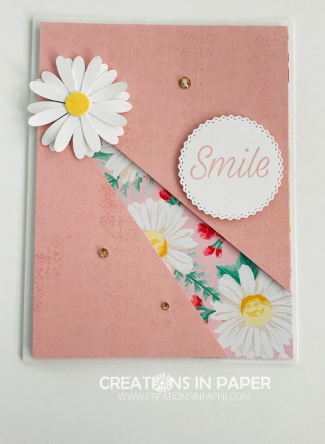 Isn't this a great card for A Fun Card Front Idea? It is easy to do also. Check out the video that shows how to do the split front.