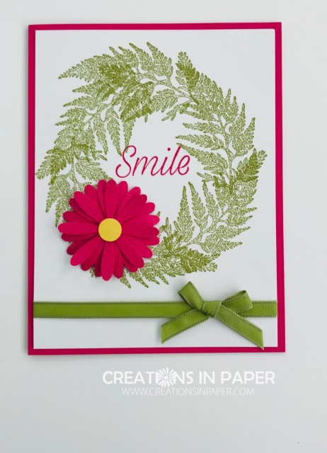 Have you ever used leaf stamps to creat a wreath? Check out my NC Demo Inspired Daisy Wreath. Don't miss this fun idea.