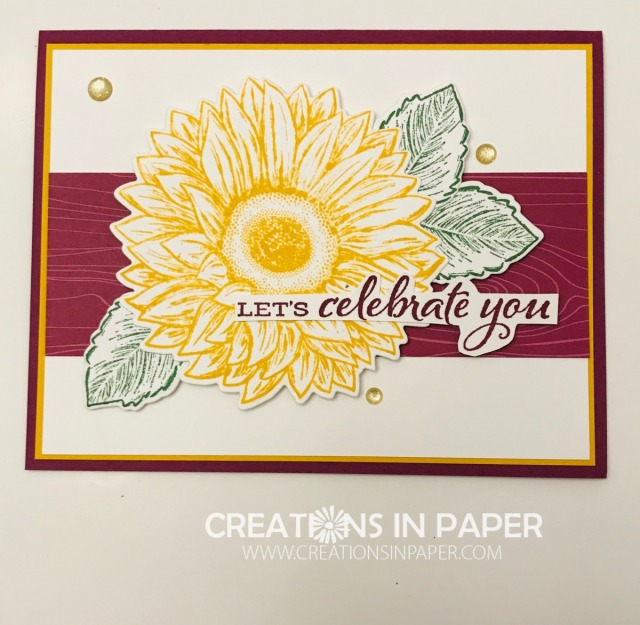 Isn't this a great celebration card. Perfect for so many occasions. Don't miss the details for this Let's Celebrate You card.