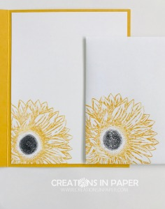 These fun sunflowers are perfect for embossing. See how I used that idea for my card front of the Daffodil Delight Embossed Sunflower.