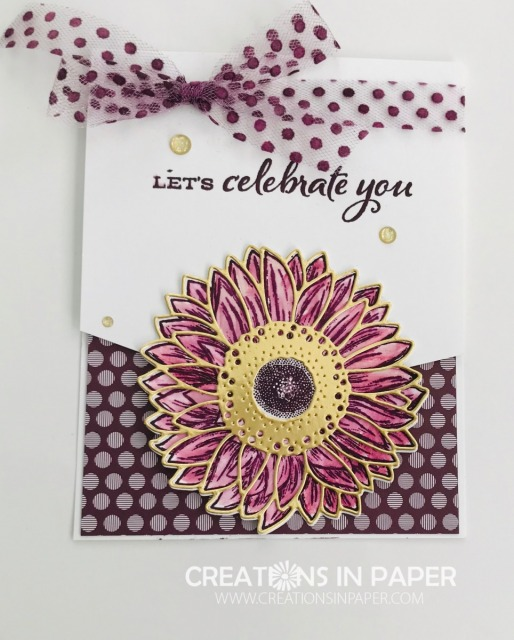This fun card front is perfect for an adorable Celebrate Sunflowers Celebrate You creation. Get the details on my blog.