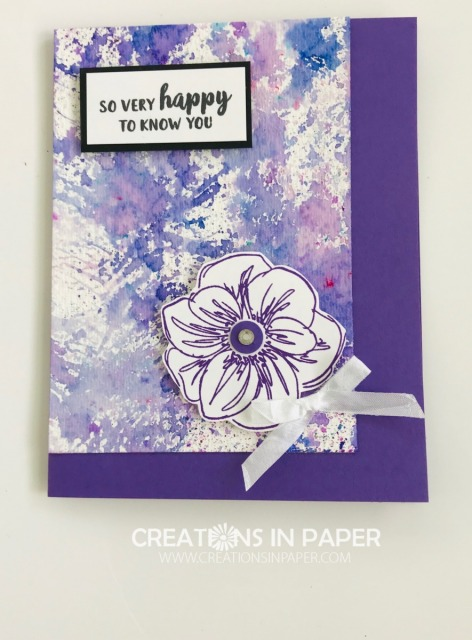I love creating fun backgrounds. The Watercolor Background Idea was a result of left over ink on a craft mat. Don't miss the fun to play and use leftovers for your card making.