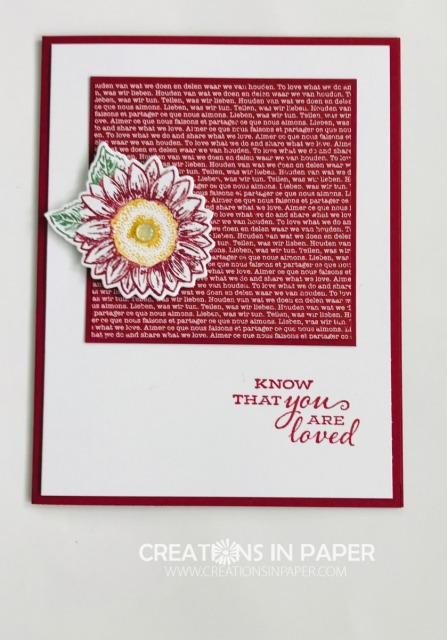 This cute little sunflower makes the perfect clean and simple card. Click through to get all the details for the Small Sunflower in Cherry Cobbler creation.