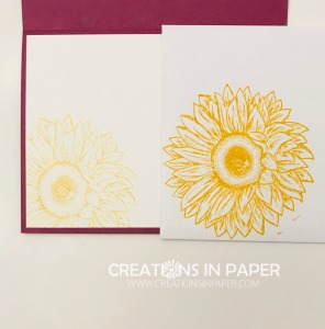 Don't you love this sunny sunflower. See the card front and get the details for the Let's Celebrate You creation by clicking the photo.