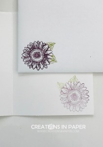 I love playing with these smaller sunflowers. They make the perfect card. Take a closer look at the Celebrate Sunflowers in Blackberry Bliss card.