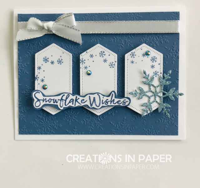 This layout is really interesting. I love how the 3 panels create a little scene. Check out the Cute Snowflake Wishes Card for all the details.