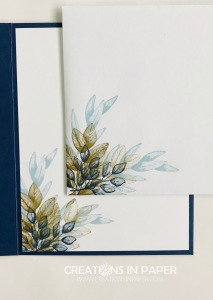 Aren't these colors great? They make the perfect clean and simple card. Get the details for the Forever Fern in Blues and Browns creation so you can make your version.