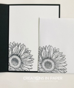 Isn't this image striking? This flower is gorgeous with lots of detail. Check out the Black and White Sunflower for an elegant idea.