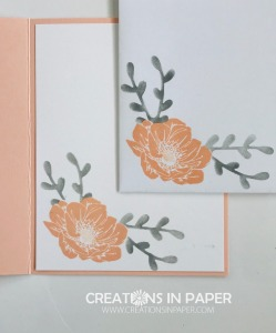 Pink and gray are a great color combination. Check out how I used masculine designer series paper to make a Floral Essence in Pink and Gray card.