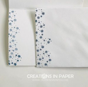 These cute snowflakes are the perfect way to decorate the inside of the card and the envelope. See the Cute Snowflake Wishes Card that goes with these by clicking the photo.