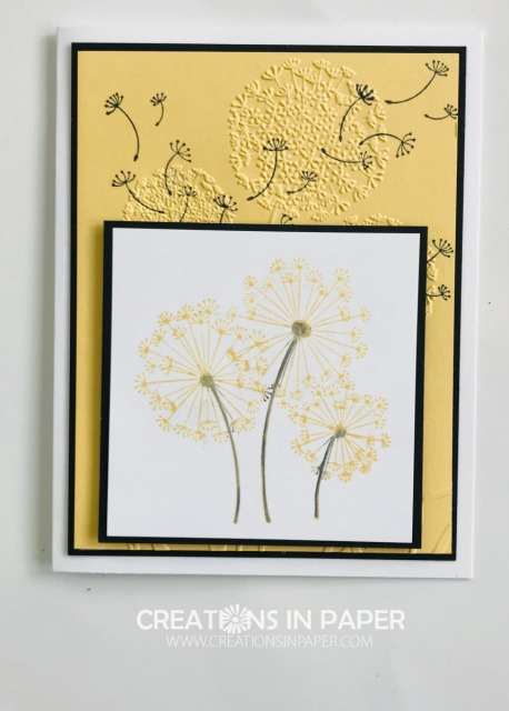 This embossing folder is perfect for this stamp set. Get the details and see the video for the Simple Dandelion Wishes creation.