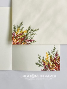 Check out this colorful spray of branches. They were used to create the Tasteful Touches Fall Card. Watch the video so you can make one too.