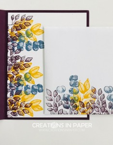 Aren't these colors fabulous? They make great Fall cards. See how I created the Forever Fern in Fall Colors video.