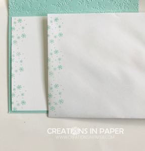 These cute snowflakes are just one of the stamps in the Snowflake Wishes stamp set. Check out the Pool Party Snowflake Wishes card to see some of the products in this fabulous suite.