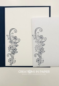 This great image is perfect for the Navy In Good Taste designer series paper. You will love the card and need to order the supplies from my online store to make yours.