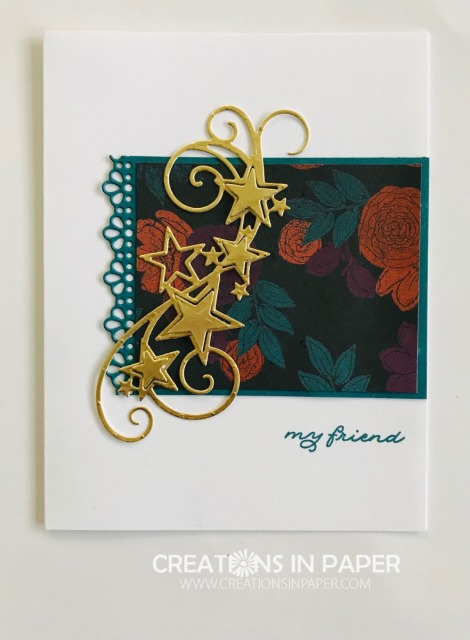 Isn't this a fun whimsical card? That star spray is perfect to celebrate someone. Check out the video for the Cute Stampin' Up My Friend Card idea.