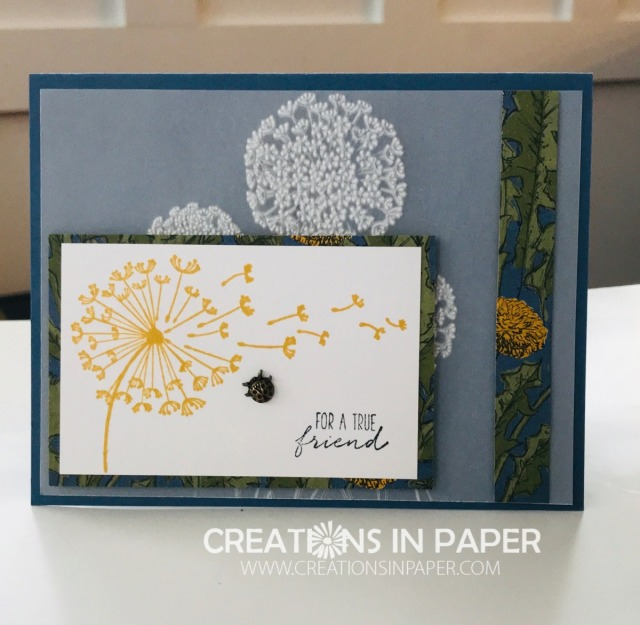 This Stampin' Up Dandy Garden True Friend card combines current product with soon to be released products. Check out the video and let me know if you want to be notified when it is released.