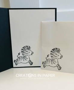 This adorable zebra is used for a Stampin' Up Zany Zebras Framed card idea. Don't miss seeing how I made it and ordering the supplies to make yours.