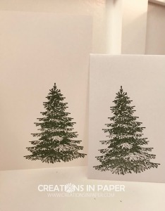 This beautiful tree image makes an elegant card. See the card front and watch the video for the Winter Woods Christmas Card to see a very elegant idea.