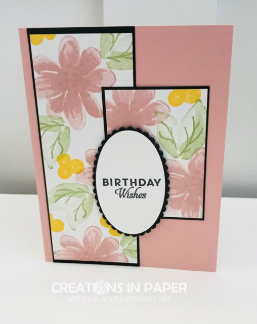 This beautiful feminine birthday card is perfect for the lady in Blushing Bride. Don't miss the details for the Gorgeous Posies in Blushing Bride creation.