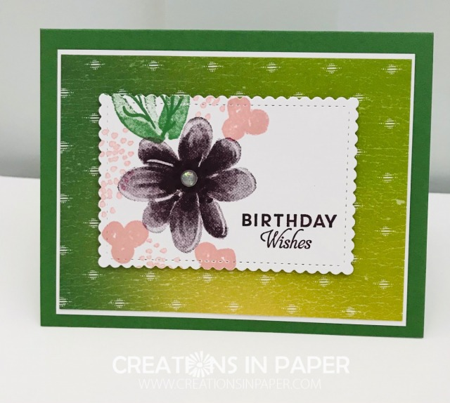 Do you need to make some birthday cards for you lady friends? The Gorgeous Posies Feminine Birthday Idea is a great card and using designer series paper makes it easy too. Get all the details on my blog.